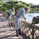 kikugetsu-tei reparer les barrieres en bambou