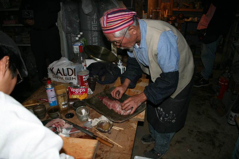retour à Henden-an - le four noborigama fume et gronde