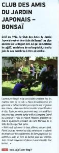 club des amis du jardin japonais - presse infograff 2012