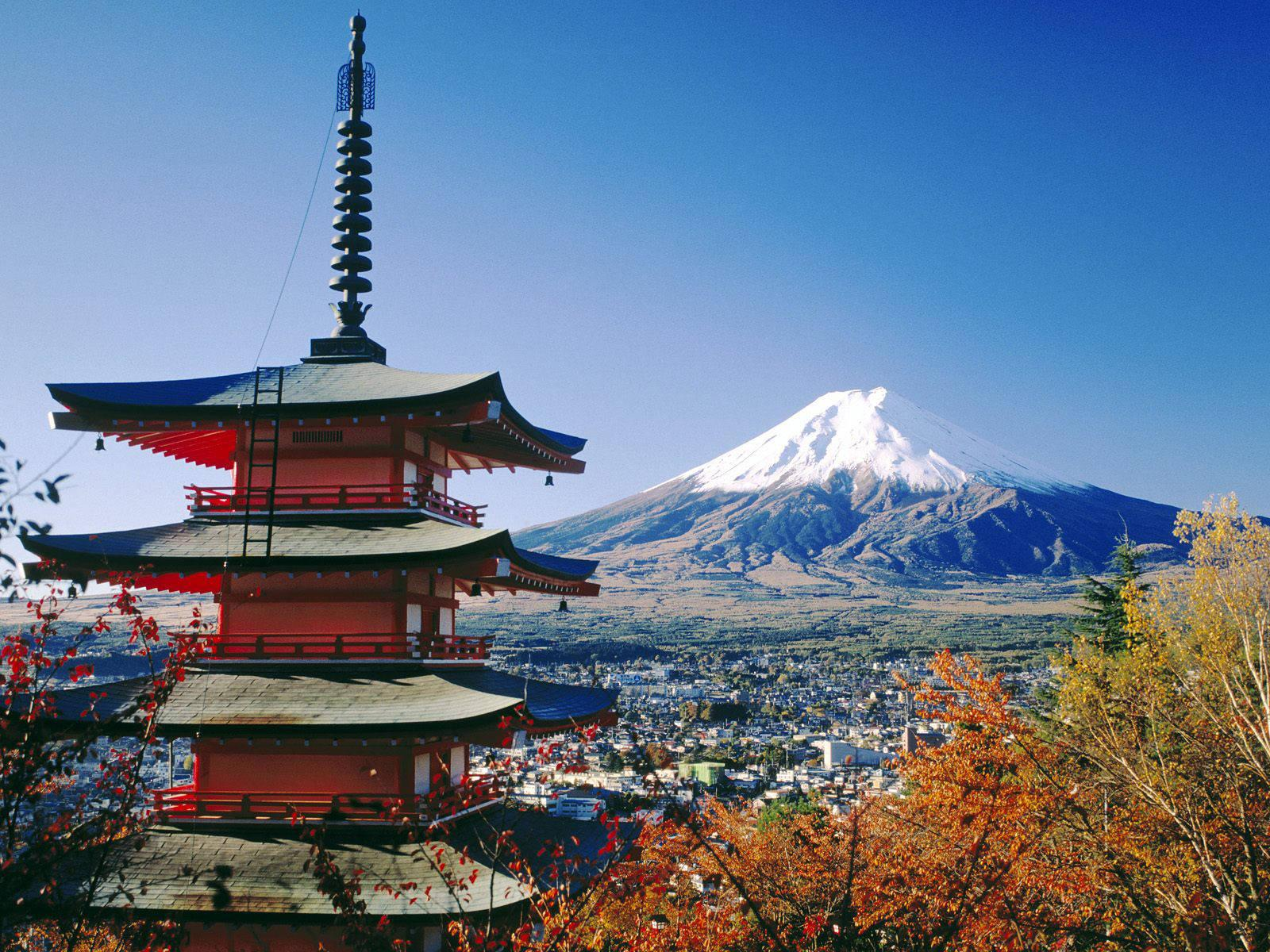 Fujiyoshida And Mount Fuji Japan