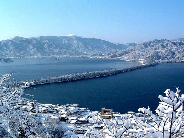 La région de Tango sous la neige - préfecture de Kyoto