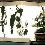 Bonsai et calligraphie – exposer autrement