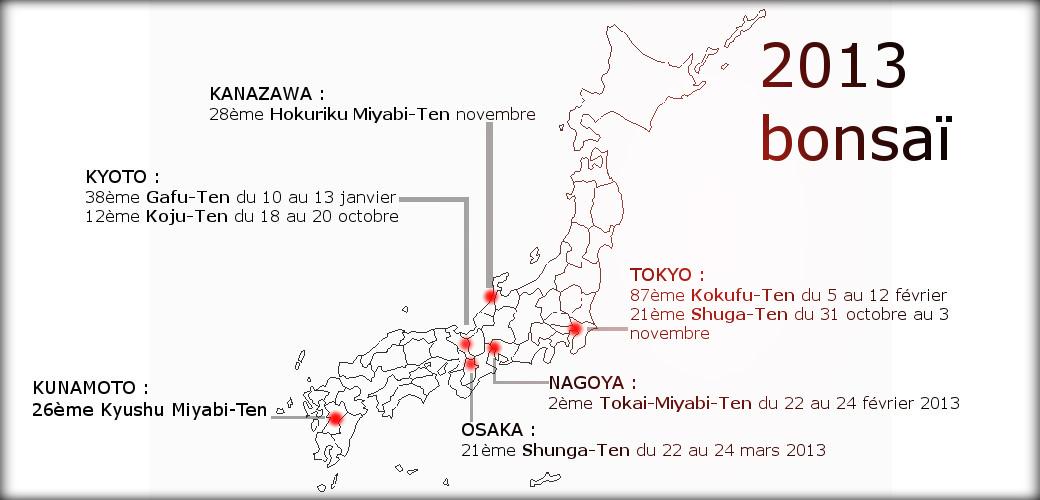 exposition de bonsai au Japon en 2013