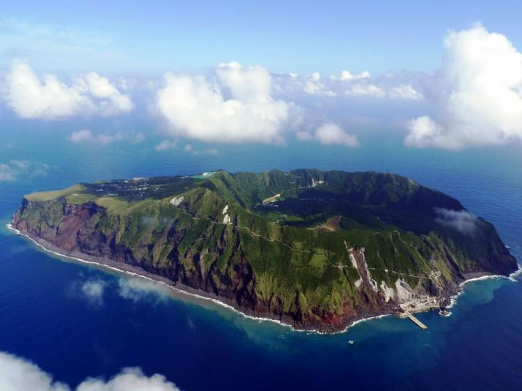 ile aogashima japon vue aérienne