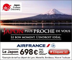 vol airfance pas cher pour le japon