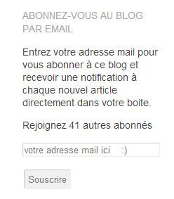abonnement au blog