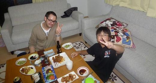 repas en famille chez koji hiramatsu