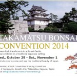 Koji Hiramatsu vous invite à la Takamatsu Bonsaï Convention 2014