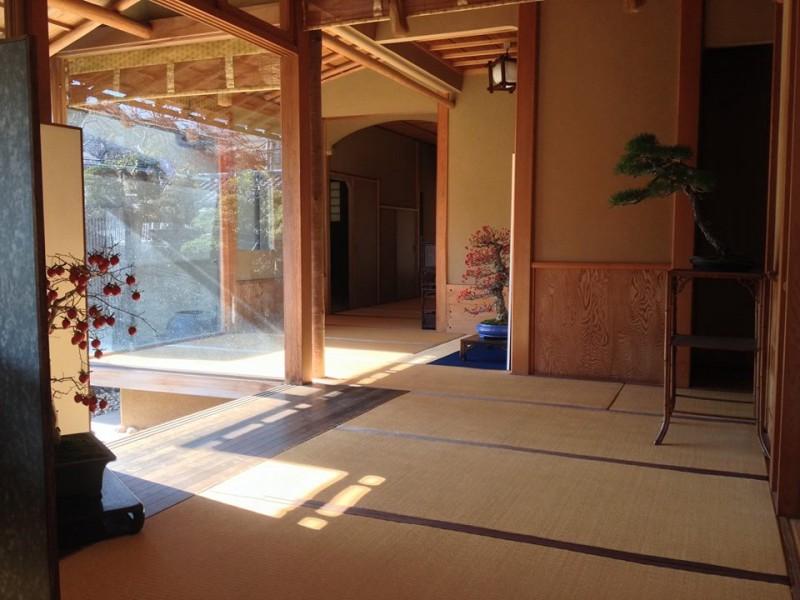 couloirs du musée du bonsai shunkaen