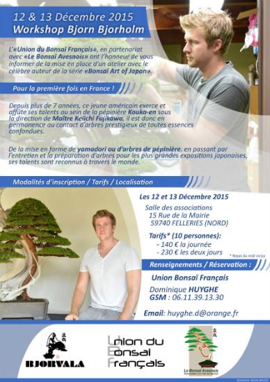 atelier en décembre avec Bjorn Bjorholm en France