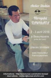 affiche atelier shohin avec tanibata - avril 2016